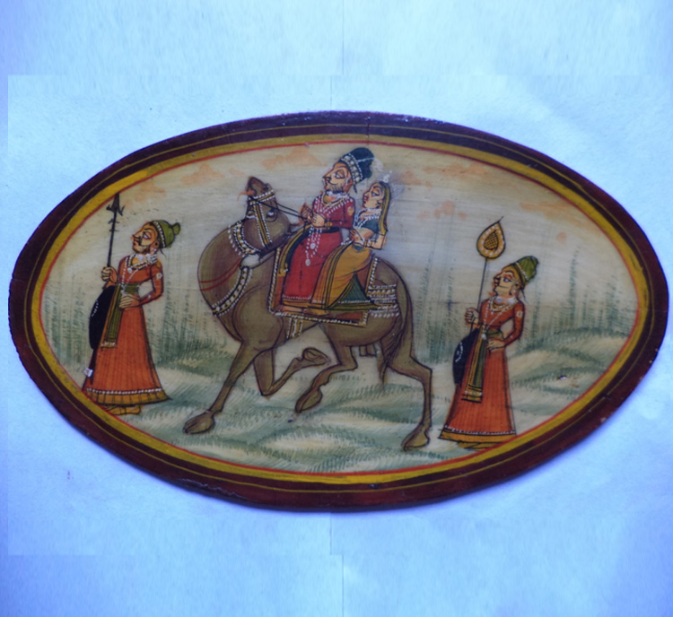 Royal Couple on camel ride - Painting