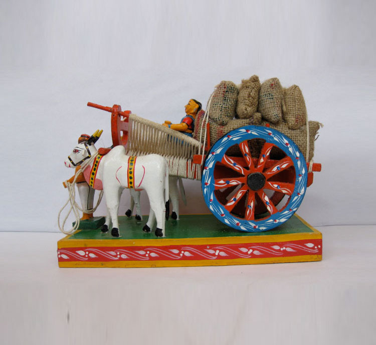 Bullock Cart with gunny bags